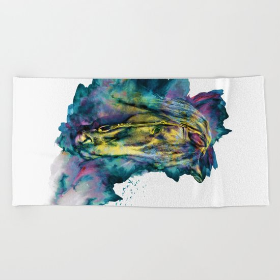 Horse Chained Beauty Beach Towel