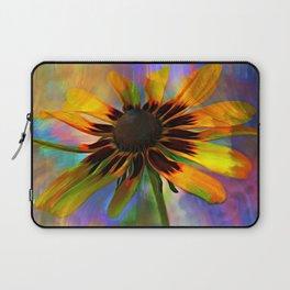 Black Eyed Susan Rainbow Floral Laptop Sleeve