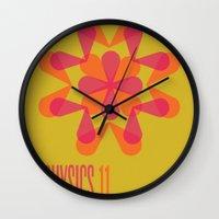 physics Wall Clocks featuring Physics 11 by lynseycreative