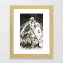Skull Knight Framed Art Print