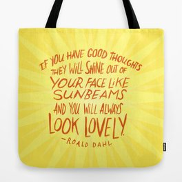 Roald Dahl on Positive Thinking Tote Bag