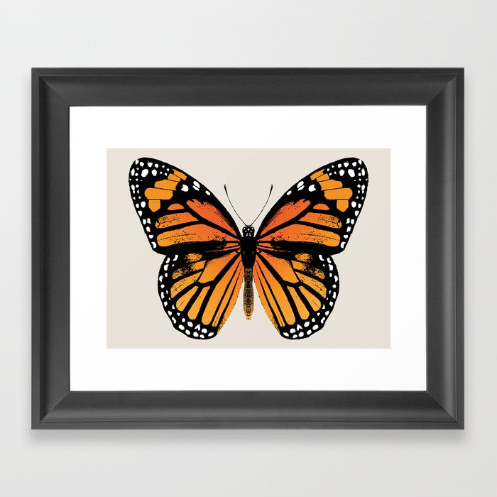 Monarch Butterfly Framed Art Print by eclecticatheart | Society6