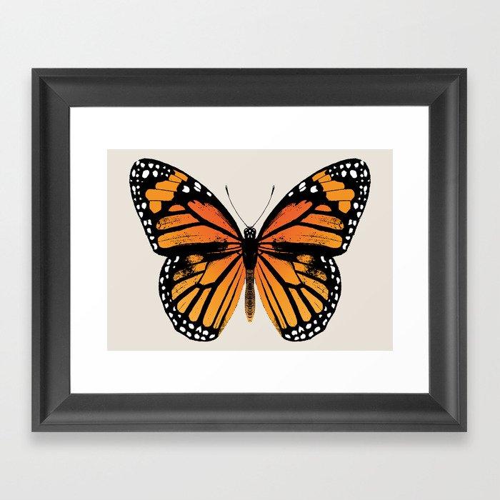 Monarch Butterfly   Vintage Butterfly   Gerahmter Kunstdruck