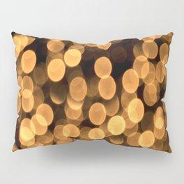 Golden Bokeh Light On A Black Background #decor #society6 Pillow Sham