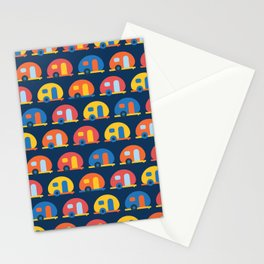 Camping Caravans Stationery Cards