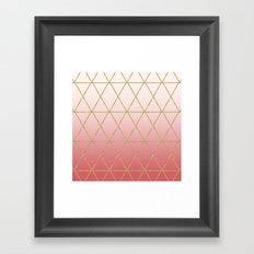 Rose Gold Geometric Framed Art Print