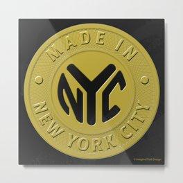 Made in New York Metal Print