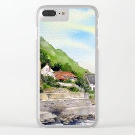 Summer in Runswick Bay Clear iPhone Case