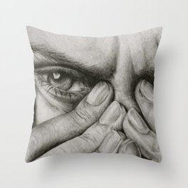 Deathly Stare Throw Pillow