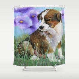 Baby Pictures Sheltie Puppy Shower Curtain