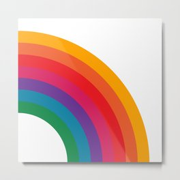 Retro Bright Rainbow - Right Side Metal Print