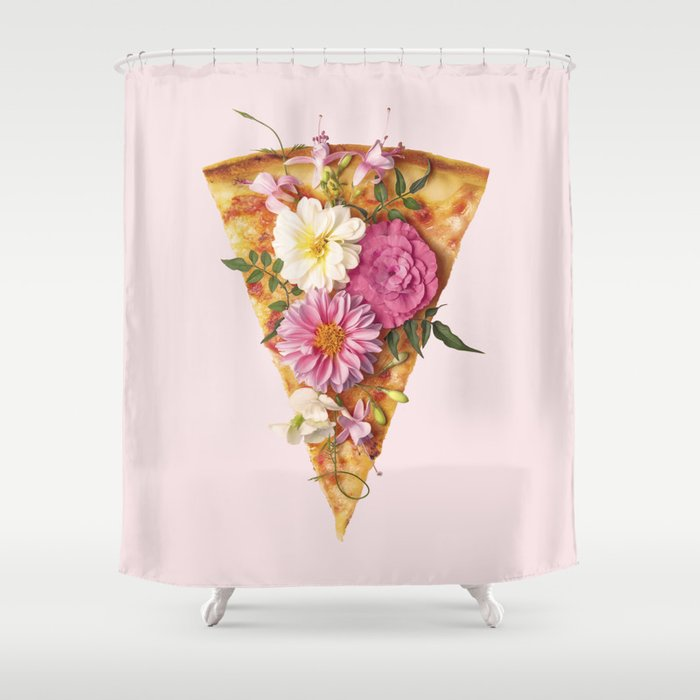 FLORAL PIZZA Shower Curtain