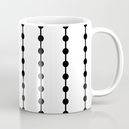 Geometric Droplets Pattern Linked Coffee Mug