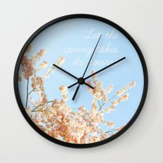 Let the spring takes its course Wall Clock