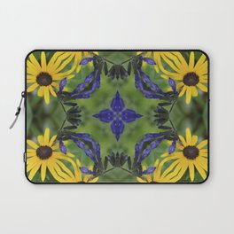 Blue Salvia Compass Points in a Ring of Rudbeckia Laptop Sleeve