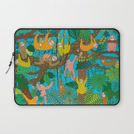 Happy Sloths Jungle Laptop Sleeve