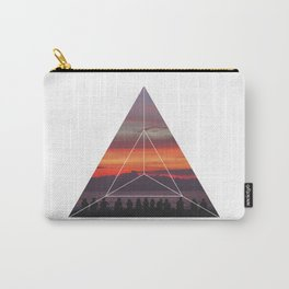 Good Friends and Sunset - Geometric Photography Carry-All Pouch