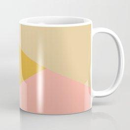 Large Triangle Pattern in Soft Earth Tones Coffee Mug