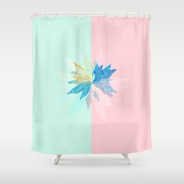 Floral Mint Pink Shower Curtain