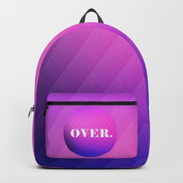 OVER - purple and pink gradient Backpack