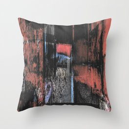 Abstract Red And Black Brutalism Throw Pillow