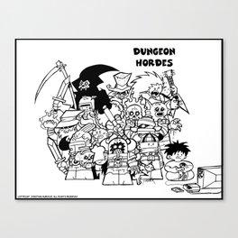 Dungeon Hordes Group Shot. Canvas Print