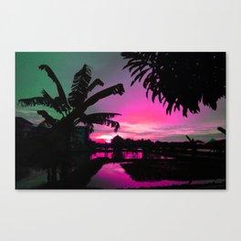 Sunset (pink) Canvas Print
