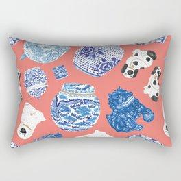 Chinoiserie Curiosity Cabinet Toss 3 Rectangular Pillow