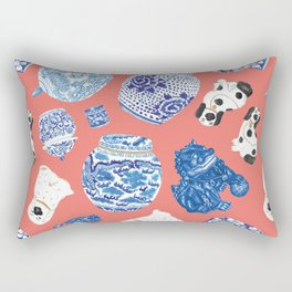 Chinoiserie Curiosity Cabinet Toss 3 Rectangular Pillow