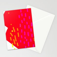 red fans Stationery Cards