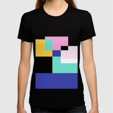 Tile Harmony Black Womens Fitted Tee SMALL