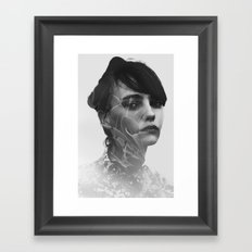 Lady Leaves Framed Art Print