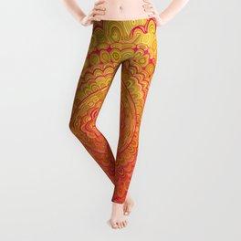 Aztec Flower Mandala Leggings