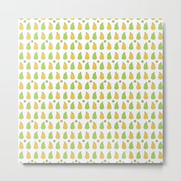 Delicious Pears Pattern Metal Print