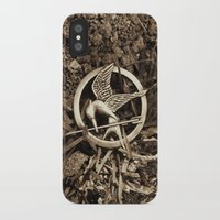 mockingjay iPhone & iPod Cases featuring Mockingjay Pin by Jerry Maestas