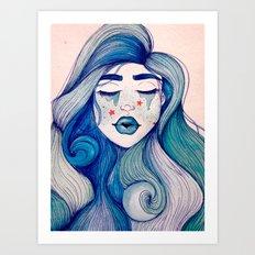 Ocean Portrait Art Print