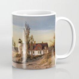 Point Betsie Lighthouse at Sunset on Lake Michigan near Frankfort Michigan No.66032 Fine Art Lightho Coffee Mug