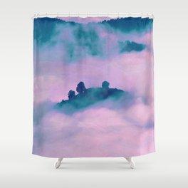 Forest land fog Shower Curtain
