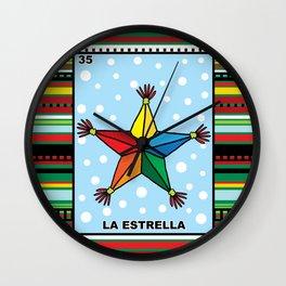Christmas Loteria La Estrella Wall Clock