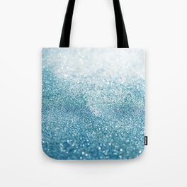 Turquoise Glitter Tote Bag
