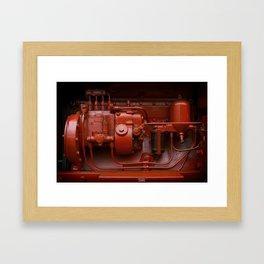 Red Tractor motor Framed Art Print