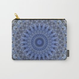 Gray and blue mandala Carry-All Pouch