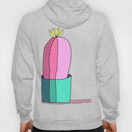 Pink and Green Cactus Drawing Hoody