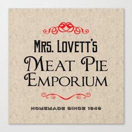 Mrs. Lovett's Meat Pie Emporium (Sweeney Todd) Canvas Print