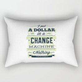 Change machine Rectangular Pillow