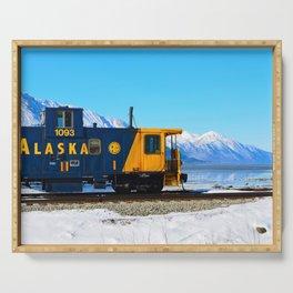 Caboose - Alaska Train Serving Tray