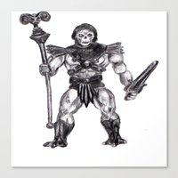 skeletor Canvas Prints featuring Skeletor by Furry Turtle Creations