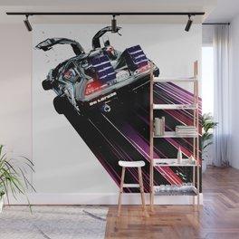 DeLorean Blast Off Wall Mural