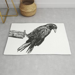 Perched Crow Rug