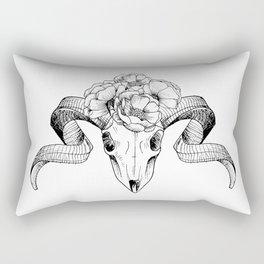 Flower Skull Rectangular Pillow